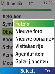 Nokia X2-00 - MMS - Afbeeldingen verzenden - Stap 13