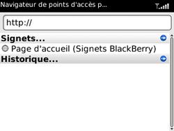 BlackBerry 8520 Curve - Internet - Navigation sur Internet - Étape 3