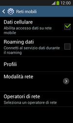 Samsung Galaxy Ace III - Internet e roaming dati - Disattivazione del roaming dati - Fase 7