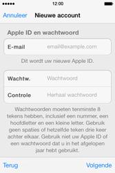 Apple iPhone 4 S - iOS 7 - apps - account instellen - stap 12