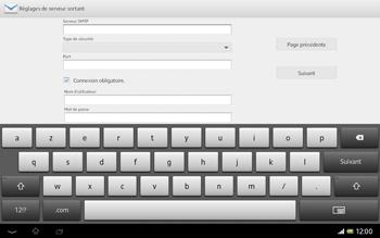 Sony Xperia Tablet Z LTE - E-mail - Configuration manuelle - Étape 11