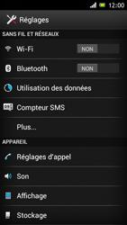 Sony Xperia J - Internet et roaming de données - Désactivation du roaming de données - Étape 4