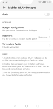 Huawei P20 Pro - Android Pie - WiFi - So aktivieren Sie einen WLAN-Hotspot - Schritt 13