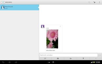 Sony Xperia Tablet Z LTE - MMS - Erstellen und senden - Schritt 18