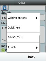 Nokia Asha 300 - E-mail - Sending emails - Step 13