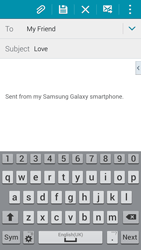 Samsung G800F Galaxy S5 Mini - E-mail - Sending emails - Step 9