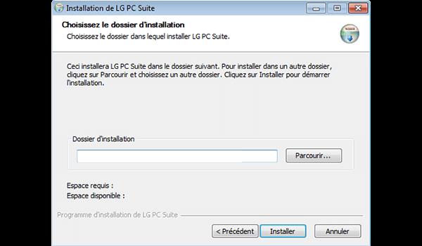 LG Spirit 4G - Logiciels - Installation du logiciel de synchronisation PC - Étape 8