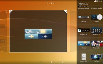 Sony Xperia Tablet Z2 LTE - Startanleitung - Installieren von Widgets und Apps auf der Startseite - Schritt 7