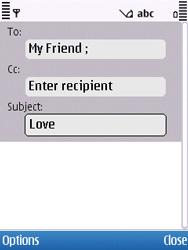 Nokia C5-00 - E-mail - Sending emails - Step 7