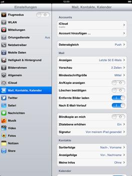Apple iPad 2 - E-Mail - Konto einrichten - Schritt 3