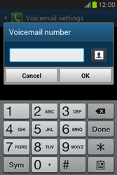 Samsung S6810P Galaxy Fame - Voicemail - Manual configuration - Step 8