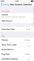 Apple iPhone 5c iOS 8 - E-mail - Manual configuration (outlook) - Step 9