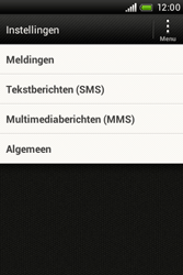HTC A320e Desire C - SMS - Handmatig instellen - Stap 4