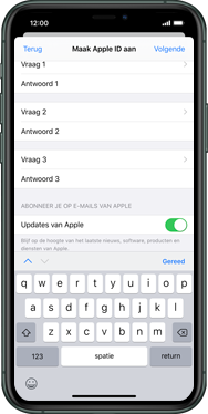 Apple iphone-11-model-a2221 - Applicaties - Account aanmaken - Stap 15