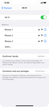 Apple iPhone 11 - Wifi - configuration manuelle - Étape 4