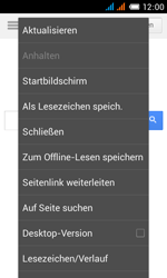 Alcatel One Touch Pop C3 - Internet und Datenroaming - Verwenden des Internets - Schritt 8