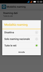 Alcatel One Touch Pop C3 - Internet e roaming dati - disattivazione del roaming dati - Fase 9