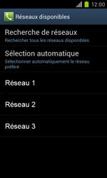 Samsung Galaxy S II - Réseau - Sélection manuelle du réseau - Étape 9