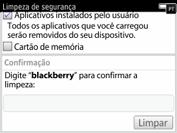BlackBerry 9620 - Funções básicas - Como restaurar as configurações originais do seu aparelho - Etapa 9