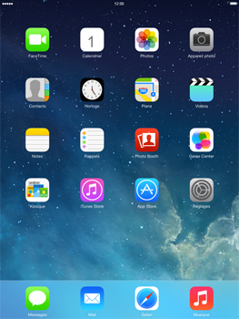Apple iPad Retina iOS 7 - WiFi - Configuration du WiFi - Étape 1