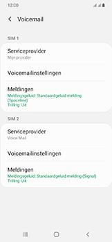 Samsung Galaxy A20e - voicemail - handmatig instellen - stap 8