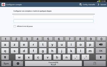 Samsung Galaxy Tab 3 10-1 LTE - E-mail - configuration manuelle - Étape 6