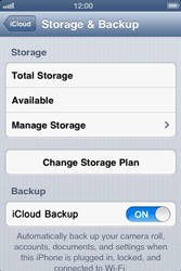Apple iPhone 4 - Applications - Configuring the Apple iCloud Service - Step 10