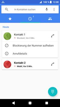Sony Xperia XA2 Ultra - Anrufe - Anrufe blockieren - 0 / 0
