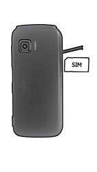 Nokia E72 - SIM-Karte - Einlegen - 3 / 6
