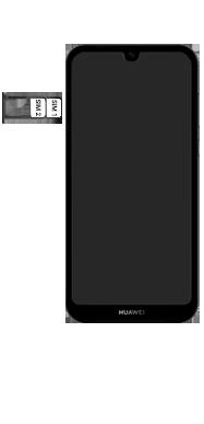 Huawei Y5 (2019) - Toestel - simkaart plaatsen - Stap 5