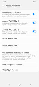 Samsung Galaxy S20 Plus 5G - Internet et roaming de données - Désactivation du roaming de données - Étape 6