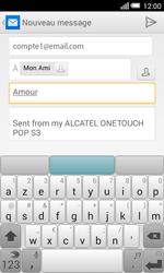 Alcatel Pop S3 (OT-5050X) - E-mail - envoyer un e-mail - Étape 8