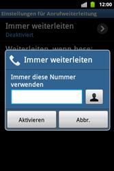Samsung Galaxy Ace - Anrufe - Rufumleitungen setzen und löschen - 7 / 9