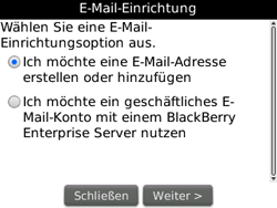 BlackBerry 8520 Curve - E-Mail - Konto einrichten - Schritt 6