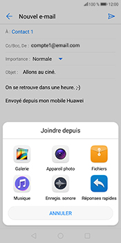 Huawei P Smart - E-mails - Envoyer un e-mail - Étape 11