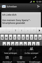 Sony Xperia E - E-Mail - E-Mail versenden - 11 / 16