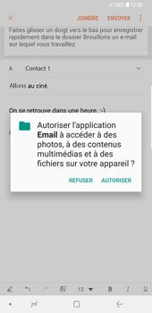 Samsung Galaxy S8 Plus - Android Oreo - E-mail - Envoi d