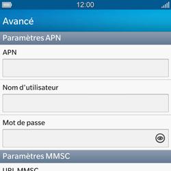 BlackBerry Q10 - MMS - Configuration manuelle - Étape 9