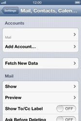 Apple iPhone 4 - E-mail - Manual configuration - Step 13