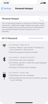 Apple iPhone XS - Internet - Set up mobile hotspot - Step 6