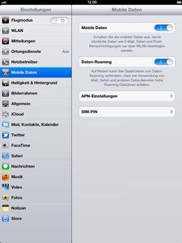 Apple iPad 3 - Ausland - Im Ausland surfen – Datenroaming - Schritt 7