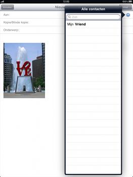 Apple iPad - E-mail - hoe te versturen - Stap 6