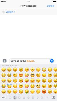 Apple Apple iPhone 6s Plus iOS 10 - iOS features - Send iMessage - Step 13