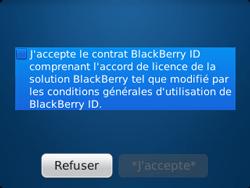 BlackBerry 9320 - Premiers pas - Créer un compte - Étape 6