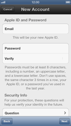 Apple iPhone 5 - Applications - Create an account - Step 12