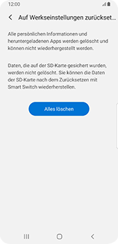 Samsung Galaxy S9 - Fehlerbehebung - Handy zurücksetzen - 10 / 12
