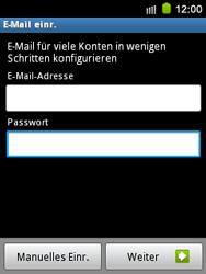 Samsung S5570 Galaxy Mini - E-Mail - Konto einrichten - Schritt 6