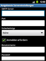 Samsung Galaxy Y - E-Mail - Manuelle Konfiguration - Schritt 11