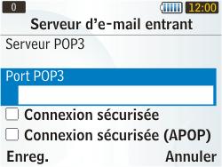 Samsung S3350 Chat 335 - E-mail - Configuration manuelle - Étape 16