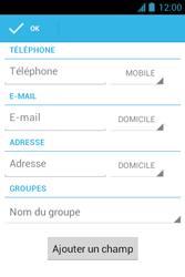 Bouygues Telecom Bs 351 - Contact, Appels, SMS/MMS - Ajouter un contact - Étape 6